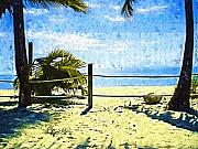 Keys Painting Framed Prints - Keys Beach Beaconing You Framed Print by Deborah MacQuarrie