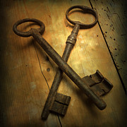 Old Objects Prints - Keys Print by Bernard Jaubert