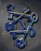 Antique Digital Art Prints - Keys Print by Kelley King