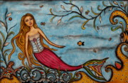 Folk Art Photos - Keziah by Rain Ririn
