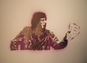 Just Painting Originals - Khadaffi test  by Barry Boom