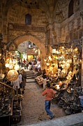 Featured Acrylic Prints - Khan El Khalili Market In Cairo Acrylic Print by Taylor S. Kennedy