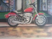 Motorcycle Pastels - Kharlydavison by Kharl Walker