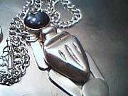 Sterling Silver Jewelry - Kheper Amulet by HC Designs