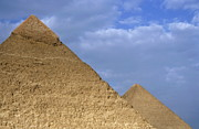 Khephren Pyramid And The Great Pyramid Print by Sami Sarkis