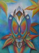 Bold Pastels Posters - Khepri Poster by Tracey Levine
