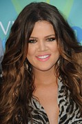 Pink Lipstick Photo Framed Prints - Khloe Kardashian At Arrivals For 2011 Framed Print by Everett