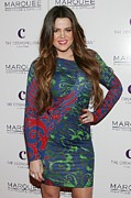 Long Sleeved Dress Photo Posters - Khloe Kardashian At Arrivals For Kim Poster by Everett
