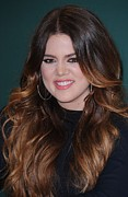 Khloe Kardashian Framed Prints - Khloe Kardashian At In-store Appearance Framed Print by Everett