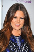 Hair Parted In The Middle Prints - Khloe Kardashian In Attendance Print by Everett