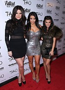 Kourtney Kardashian Framed Prints - Khloe Kardashian, Kim Kardashian Framed Print by Everett
