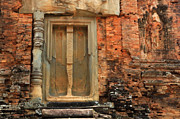 Cambodia Photos - Khmer Ruin Doorway by Bob Christopher