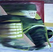 Hockey Painting Posters - Kick Save Poster by Yack Hockey Art