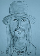 Singer Drawings - Kid Rock by Pete Maier
