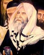 Rabbi Paintings - Kiddush by Miriam Shaw