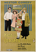 1910s Poster Art Framed Prints - Kids And Corsets, Aka Kids & Corsets Framed Print by Everett