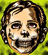 Drawings Mixed Media Framed Prints - Kids Are Zombies Too Framed Print by Jeff DOttavio