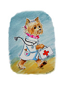 Art For Kids Room Posters - Kids Art Dogtor Poster by Irina Sztukowski