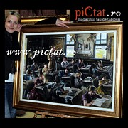 Decorativ Paintings - Kids at school Oil painting www.pictat.ro  by Preda Bianca