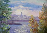 Kiev Art Prints - Kiev in distance. Print by Anna Sokol