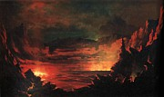 Lava Flow Prints - Kilauea Caldera Sandwich Islands Print by Pg Reproductions