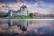 Loch Awe Posters - Kilchurn Castle  Loch Awe  Argyll Poster by David Mould