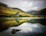 The Past Prints - Kilchurn Castle Loch Awe Print by Kennethbarker