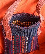 Hand Made Tapestries - Textiles - Kilim Bag    Japanese Skirt by Krisha Fairchild