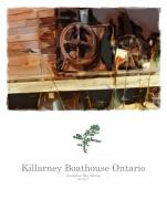 Wooden Building Mixed Media Prints - Killarney  Ontario Boathouse Poster Series Print by Bob Salo