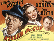 Mccoy Photo Framed Prints - Killer Mccoy, Mickey Rooney, Ann Blyth Framed Print by Everett