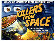1954 Movies Prints - Killers From Space, 1954 Print by Everett