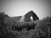 Church Ruins Photos - Kilmanaheen Church Ruins Ennistymon Ireland by Teresa Mucha
