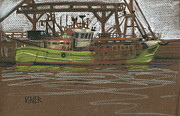 Trawler Paintings - Kilmore Quay Fishing Trawler by Donald Maier