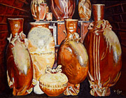 Orange Ceramics Metal Prints - Kiln Party Metal Print by Brian Ogi