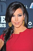 Gold Earrings Acrylic Prints - Kim Kardashian At Arrivals For 2011 Acrylic Print by Everett