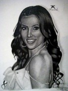 Kim Drawings Framed Prints - Kim Kardashian Drawing Framed Print by Keeyonardo