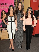 Kourtney Kardashian Framed Prints - Kim Kardashian, Khloe Kardashian Framed Print by Everett
