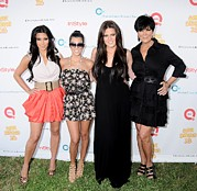 Kim Photo Prints - Kim Kardashian, Kourtney Kardashian Print by Everett
