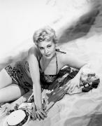 Beach Towel Prints - Kim Novak (1933-   ) Print by Granger