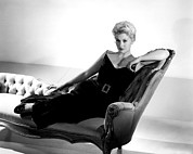 Lounge Chair Framed Prints - Kim Novak, Columbia Pictures, 1950s Framed Print by Everett