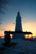 Cold Morning Sun Prints - Kimberly Pointe Lighthouse Print by Joel Witmeyer