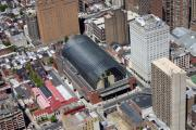 Aerial Photo Of Philadelphia Posters - Kimmel Center for the Preforming Arts Poster by Duncan Pearson