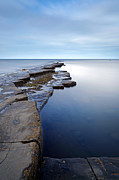 Ledge Prints - Kimmeridge Bay in Dorset ledge out to sea Print by Richard Thomas