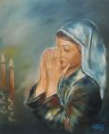 Praying Drawings Originals - Kinberlys blessing by Vered Thalmeier