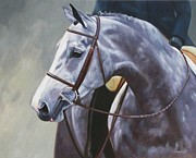 Gray Horse Prints - Kind Eye Print by Janet  Crawford