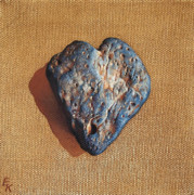Heart Stone Art - Kind heart by Elena Kolotusha