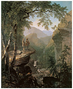 Early American Framed Prints - Kindred Spirits Framed Print by Asher Brown Durand