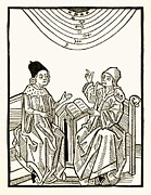 Fortune Telling Prints - King And Astrologer, Historical Artwork Print by Detlev Van Ravenswaay