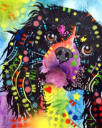 Animal Art Painting Prints - King Charles Spaniel Print by Dean Russo