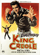 Postv Framed Prints - King Creole, Elvis Presley, 1958 Framed Print by Everett
